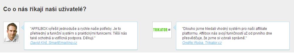 reference na Affilbox.cz